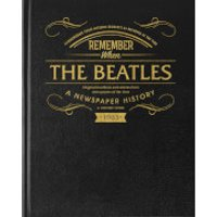 The Beatles Newspaper Book with Black Leather Cover - Newspaper Gifts