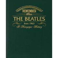 The Beatles Newspaper Book - Racing Green Leatherette - Newspaper Gifts