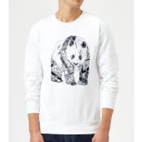 Tobias Fonseca Tattooed Panda Sweatshirt - White - XXL - White