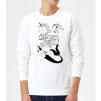 Rock On Ruby Mermaid, Unicorn and Dinosaur Squad Goals Sweatshirt - White - XL - White