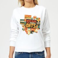 Tobias Fonseca Who Run The World? Cats. Women's Sweatshirt - White - XS - White