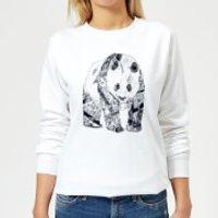 Tobias Fonseca Tattooed Panda Women's Sweatshirt - White - XXL - White