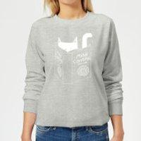 Tobias Fonseca Mind Control for Cats Women's Sweatshirt - Grey - XXL - Grey