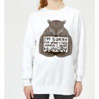 Tobias Fonseca Sorry for What I Said When I Was Hungry Women's Sweatshirt - White - S - White