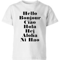 PlanetA444 Hello Kids' T-Shirt - White - 7-8 Years - White
