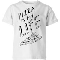 Rock On Ruby Pizza Is My Life Kids' T-Shirt - White - 11-12 Years - White