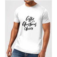 PlanetA444 Coffee and Christmas Cheer Men's T-Shirt - White - M - White