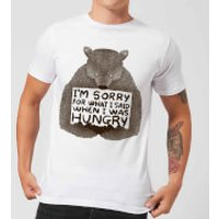 Tobias Fonseca Sorry for What I Said When I Was Hungry Mens T-Shirt - White - M - White