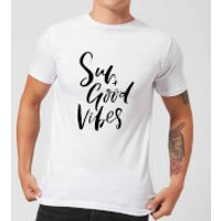 PlanetA444 Sun and Good Vibes Men's T-Shirt - White - M - White