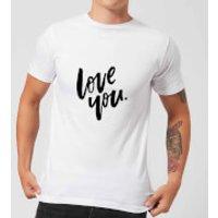 PlanetA444 Love You Men's T-Shirt - White - M - White