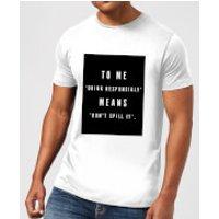 PlanetA444 Drink Responsibly Men's T-Shirt - White - XXL - White