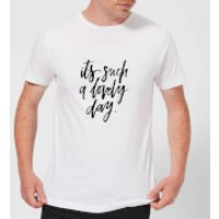 PlanetA444 It's Such A Lovely Day Men's T-Shirt - White - M - White
