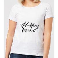 Adulting Level 0 Women's T-Shirt - White - 4XL - White