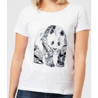 Tattooed Panda Women's T-Shirt - White - XL - White - Panda Gifts