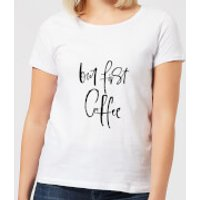 Image of But First, Coffee Women's T-Shirt - White - S - White