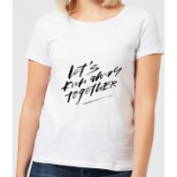 Let' Run Away Together Women's T-Shirt - White - M - White