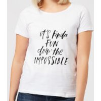 It's Kinda Fun Doin' The Impossible Women's T-Shirt - White - XS - White - Fun Gifts