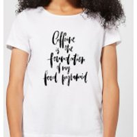 Caffeine Is The Foundation Of My Food Pyramid Women's T-Shirt - White - S - White - Makeup Gifts
