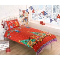 Rudolf Reindeer Duvet Cover Set - Multi - Double - Multi