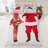 Selfie Santa Duvet Cover Set - Multi - King - Multi