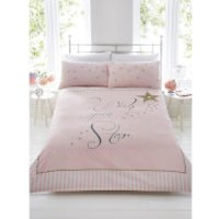 Wish Upon A Star Duvet Cover Set - Pink - Single - Multi - Wish Gifts