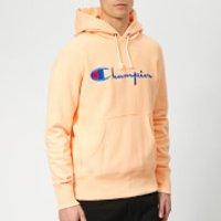 Champion Men's Script Overhead Hoodie - Peach - XL - Orange