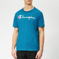 Champion Men's Script T-Shirt - Blue - XS - Blue