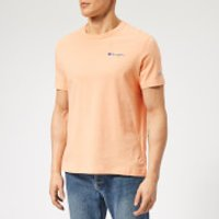 Champion Men's Small Script T-Shirt - Peach - S - Orange