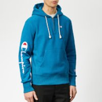 Champion Men's Half Zip Over Head Hoodie - Blue - XL - Blue