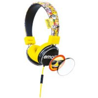 Emoji Flip N Switch Wired Headphones - Yellow - Accessories Gifts