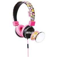 Emoji Flip N Switch Wired Headphones - Pink