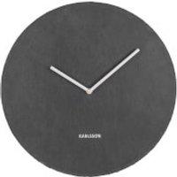 Karlsson Wall Clock Slate Black - Large - Karlsson Gifts