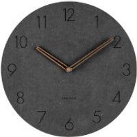 Karlsson Wall Clock Dura Korean Wood - Black - Karlsson Gifts