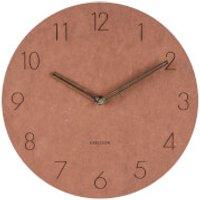 Karlsson Wall Clock Dura Korean Wood - Brown - Karlsson Gifts