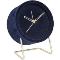 Karlsson Alarm Clock Lush Velvet - Dark Blue - Karlsson Gifts