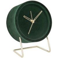 Karlsson Alarm Clock Lush Velvet - Dark Green - Karlsson Gifts