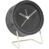 Karlsson Alarm Clock Lush Velvet - Dark Grey - Karlsson Gifts