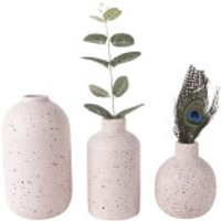 Present Time Dotted Ceramic Vase Set - Pink - Present Gifts