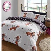 Dreamscene Dachshund Design Duvet Cover Set - Multi - King - Multi - Dachshund Gifts