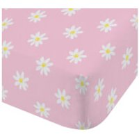 Catherine Lansfield Daisy Dreamer Cotton Rich Fitted Sheet - Pink - Single - Pink