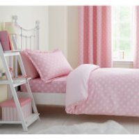 Catherine Lansfield Daisy Dreamer Cotton Rich Duvet Set - Pink - Single - Pink