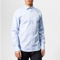 Tommy Hilfiger Men's Twisted Yarn Dobby Shirt - Blue - XL - Blue