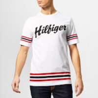 Tommy Hilfiger Men's Logo Script Relaxed Fit T-Shirt - White - L - White