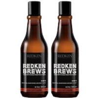 Redken Brews Men's 3 in 1 Shampoo Duo