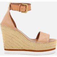 See By Chloe Women's Glyn Suede Espadrille Wedge Sandals - Cipria - EU 36/UK 3 - Pink