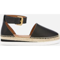See by Chloe See By Chloé Women's Glyn Leather Espadrille Flat Sandals - Black - EU 39/UK 6 - Black