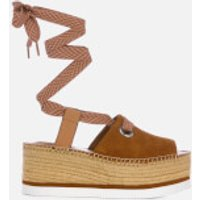 See By Chloe Women's Tie Up Espadrille Mid Wedge Sandals - Tan - EU 40/UK 7 - Tan