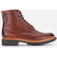 Grenson Men's Joseph Hand Painted Leather Lace Up Boots - Tan - UK 7 - Tan/Brown