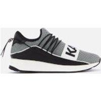 Karl Lagerfeld Men's Vektor Karl Band Net Runner Style Trainers - Black/White - UK 9 - Black/White