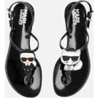 Karl Lagerfeld Women's Jelly Karl Ikonic Sling Sandals - Black - UK 2